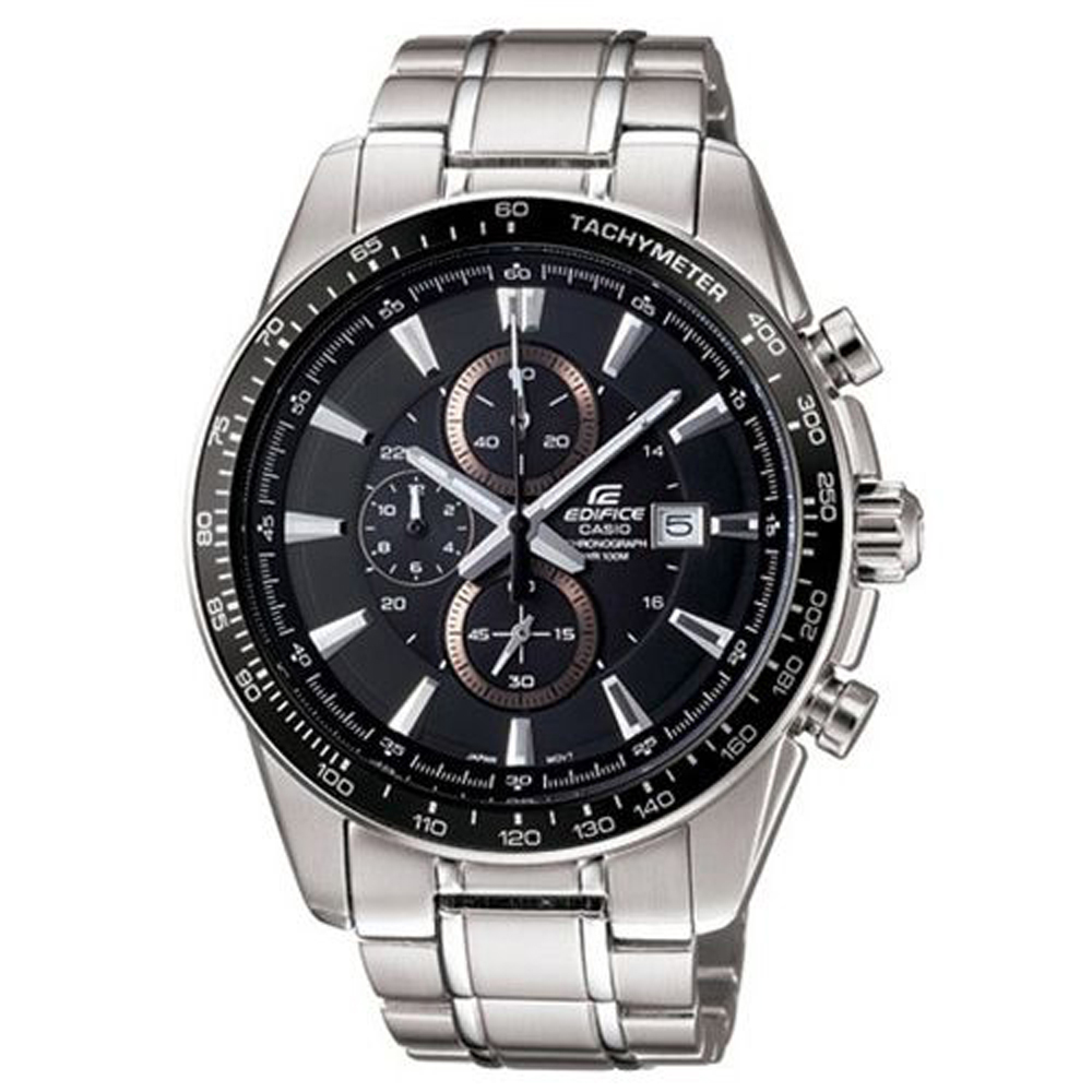 EDIFICE 智慧時尚品味新計時腕錶(EF-547D-1A1)-黑/43mm