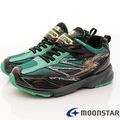 日本月星頂級童鞋-競速衝刺運動鞋-EI 176 黑綠(中大童段)T
