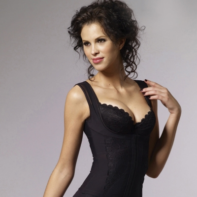 LADY 魔塑美型系列 機能防駝塑身衣(黑色)