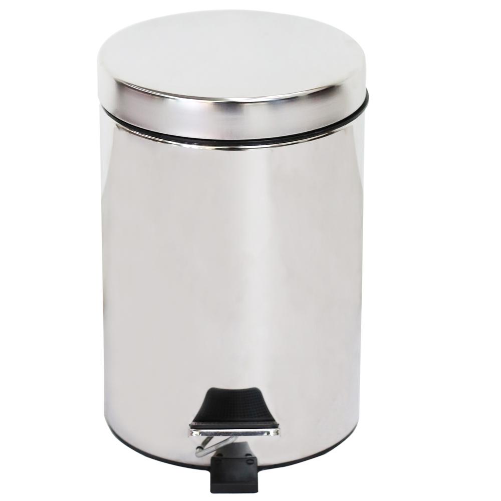 美德生活-高雅不銹鋼垃圾筒(5L)