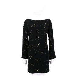 VERSACE 黑色金星鉚釘長袖洋裝