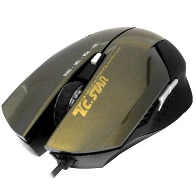 TCSTAR-電競光學滑鼠-TCN190CG-金色