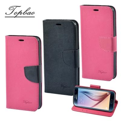 Topbao Samsung Galaxy S6 側立磁扣TPU保護皮套