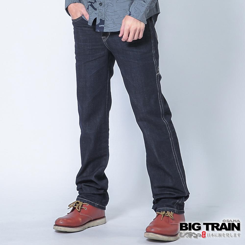 BIG TRAIN 墨達人磐龍小直筒-男-深藍