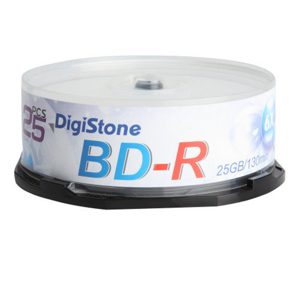 DigiStone 國際版 A+ 藍光 6X  BD-R 25GB 桶裝 (50片)