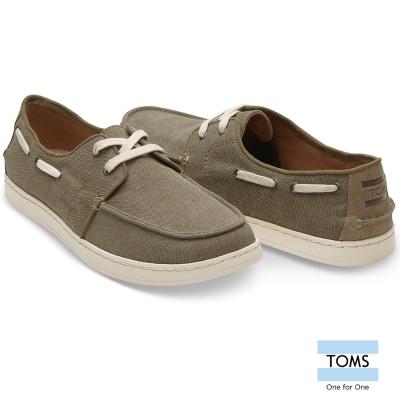 TOMS 綿麻麂皮拼接帆船休閒鞋-男款