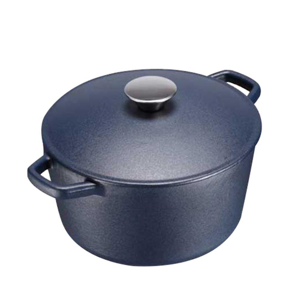魔法瓶嚴選日式輕量鑄鐵鍋深藍-20cm