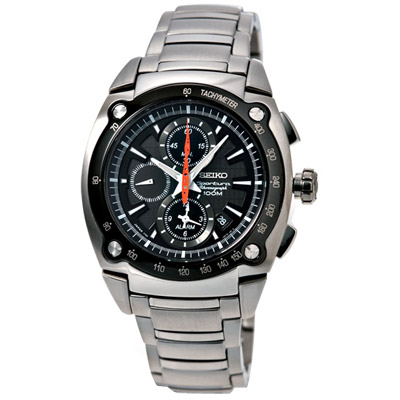 SEIKO Sportura兩地時間飆速賽車計時碼錶
