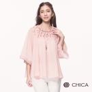CHICA 復古浪漫洛可可風情七分袖設計上衣(2色)