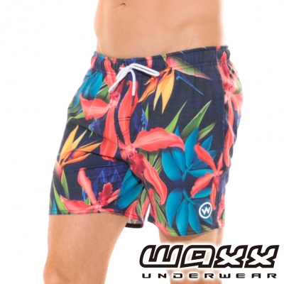 WAXX熱浪系列-挪威森林快乾型男海灘褲(15英吋)