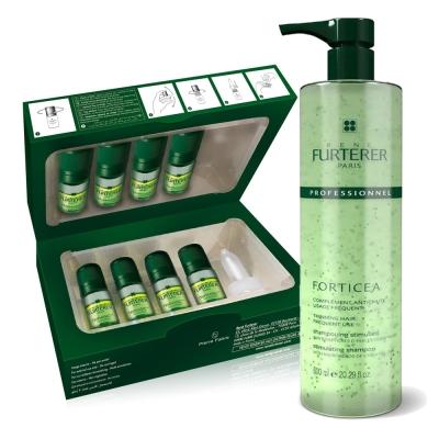 *RENE FURTERER 複方養髮組(複方髮浴600ml+三項森髮調理液5.5mlx8