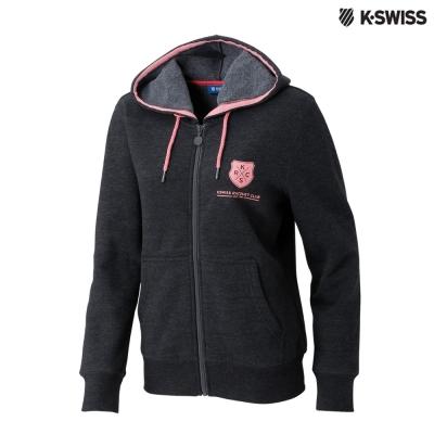 K-Swiss KSRC Hoodie Jacket休閒連帽外套-女-碳黑