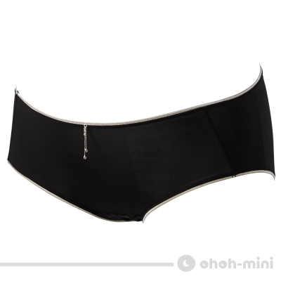 【ohoh-mini 孕婦裝】性感高彈力棉孕婦低腰內褲(黑)