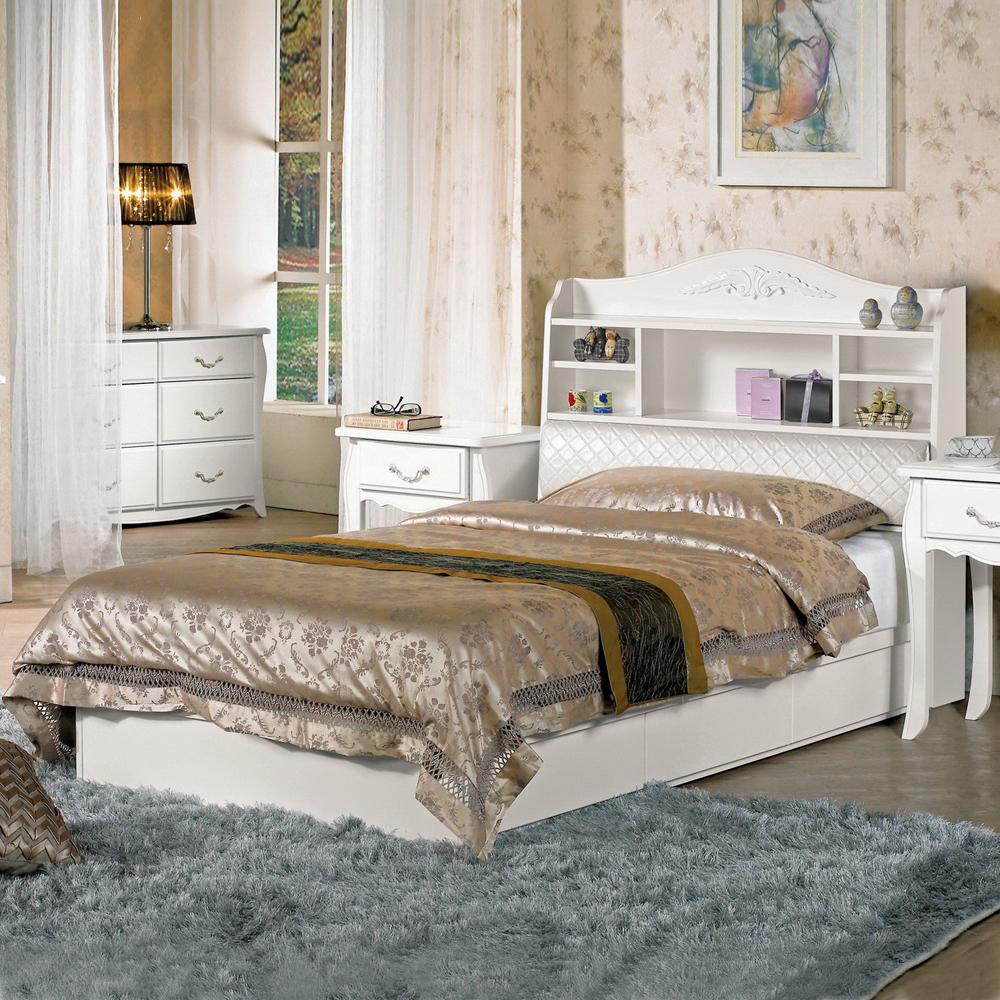 時尚屋 仙朵拉3.5尺被櫥式加大單人床(只含床頭-床底-不含床墊、床頭櫃)