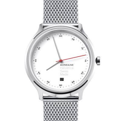 MONDAINE 瑞士國鐵Erik Spiekermann 聯名紀念米蘭鍊帶錶-40mm