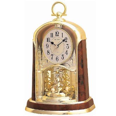 RHYTHM 日本麗聲 金鐘旋轉座鐘桌鐘兩用-白/18x29.3cm