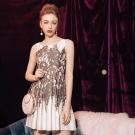 東京著衣-KODZ 歐美注目流行印花設計洋裝-S.M.L(共一色)