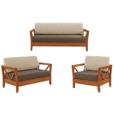 Boden-奇爾實木沙發椅組(1+2+3人座)