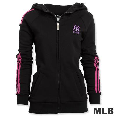 MLB-紐約洋基隊撞色色條外套-黑(女)