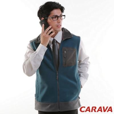 CARAVA《男款刷毛背心》(普藍)