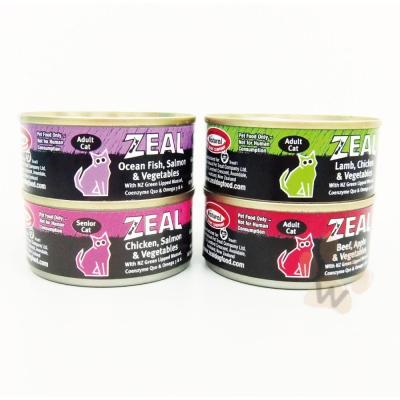 ZEAL 紐西蘭天然寵物主食貓餐罐100g 口味混搭24入
