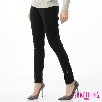 SOMETHING-窄直筒-LADIVA合身色褲-女-黑色