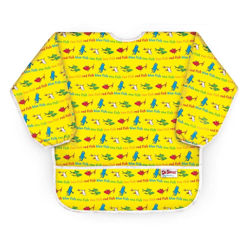 【美國Bumkins】大童長袖防水圍兜-小魚BKAS-F01