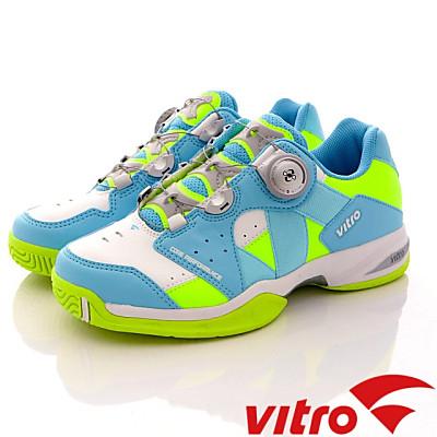 Vitro韓國專業運動品牌-RANKERS2.0BOA專業網球鞋-藍綠(女)