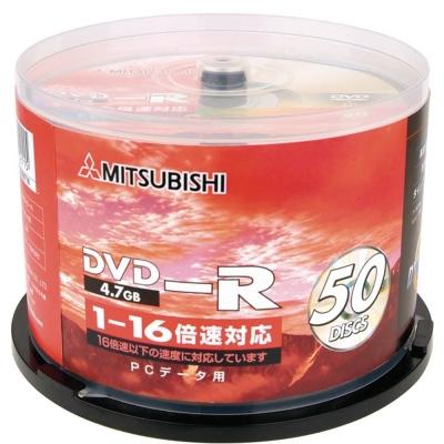 三菱4.7GB DVD-R 16X燒錄片(50片)