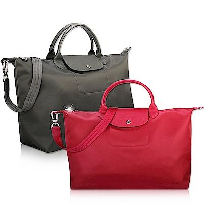 Longchamp Neo 短把手提/斜背厚尼龍兩用包/旅用包-多色任選5980