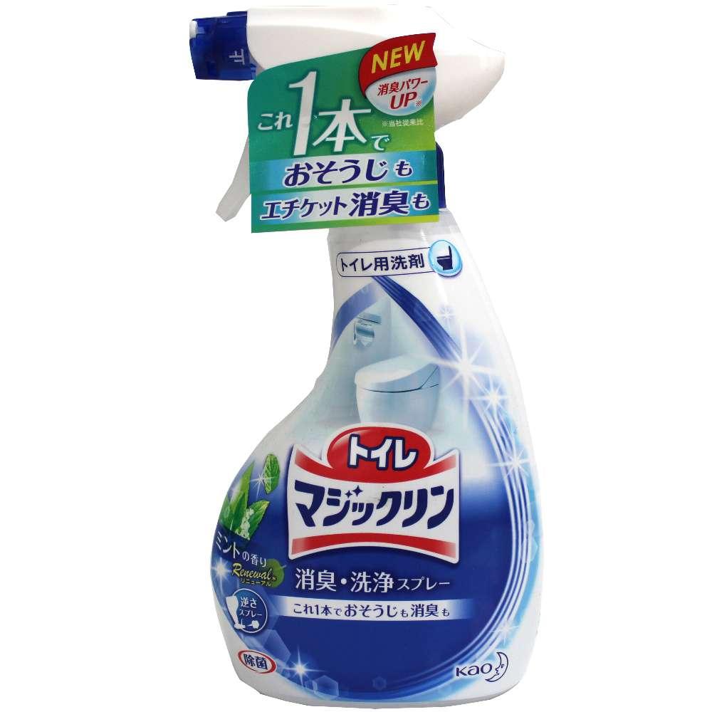 日本花王 廁所除臭清潔噴霧-薄荷香(380ml)