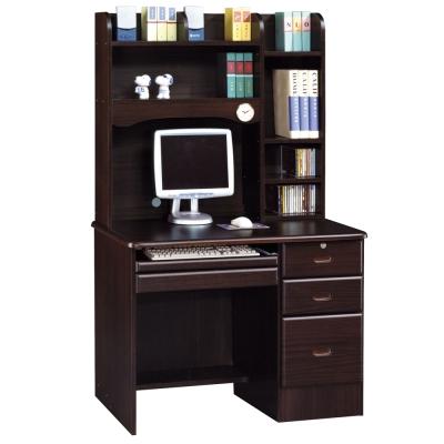 時尚屋 進興胡桃3.5x5.6尺電腦桌 寬104cm