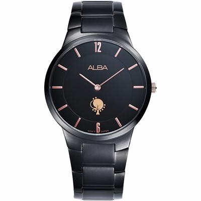 ALBA 劉以豪設計限量城市女錶(ATAU93X1)-黑/38mm