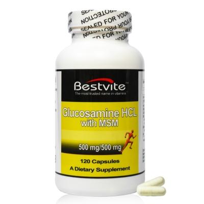 即期品 美國BestVite必賜力葡萄糖胺+MSM膠囊1瓶 (120顆)效期2019/04