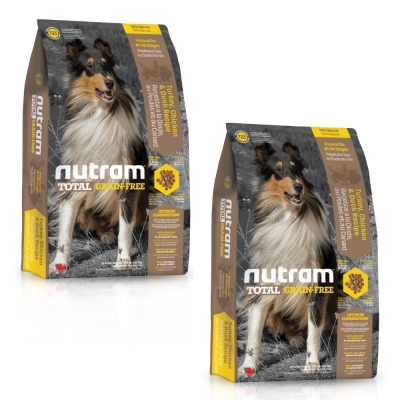 Nutram紐頓 無穀全能-T23潔牙犬火雞配方2.72kg 兩包組【2136】