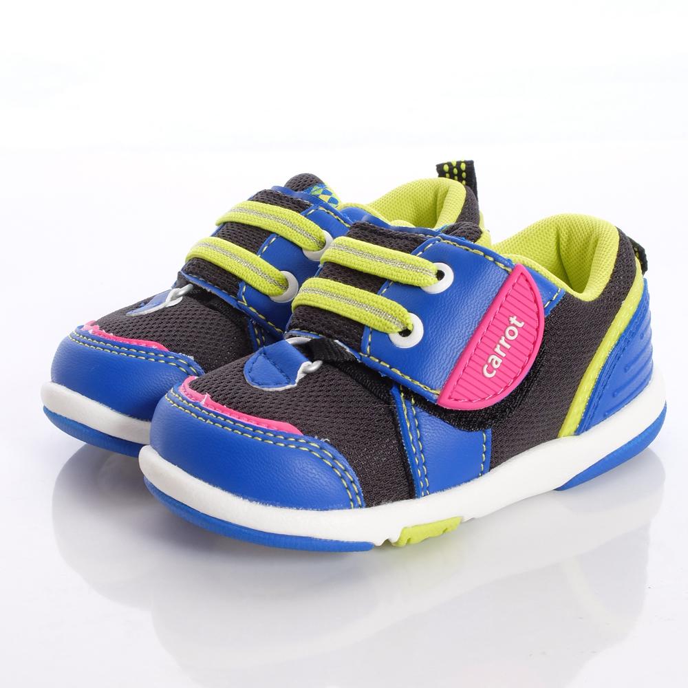日本Carrot機能童鞋-連動帶穩定款-B615藍(寶寶段)HN