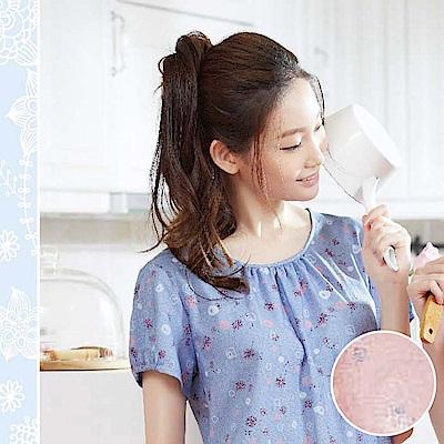 華歌爾睡衣 蒲公英印花居家服 M-L 圓領衣褲組 (粉膚)-舒適親膚