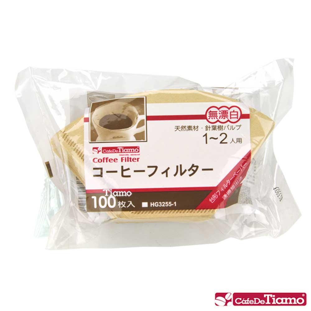 Tiamo 101無漂白咖啡濾紙100入*3袋/組 (HG3255-1)