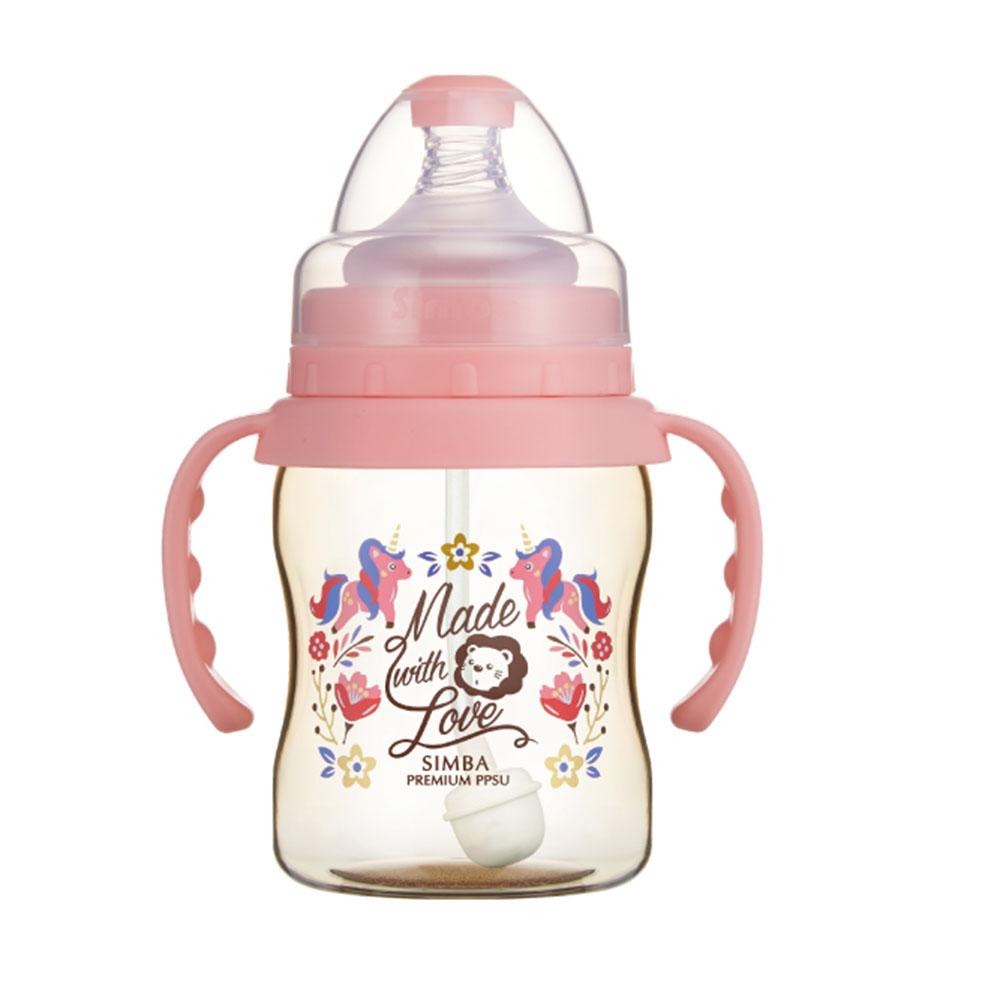 小獅王辛巴 桃樂絲PPSU自動把手寬口葫蘆小奶瓶(200ml)