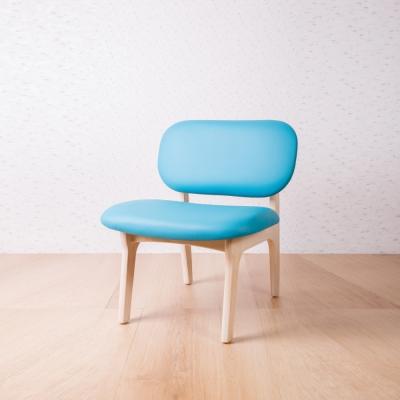 簡約風 菲特土耳其藍休閒椅-62x60x74cm