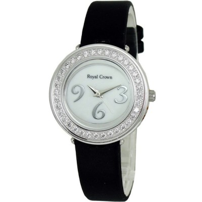 Royal Crown 浪漫晶鑽珍珠貝腕錶-白/30mm