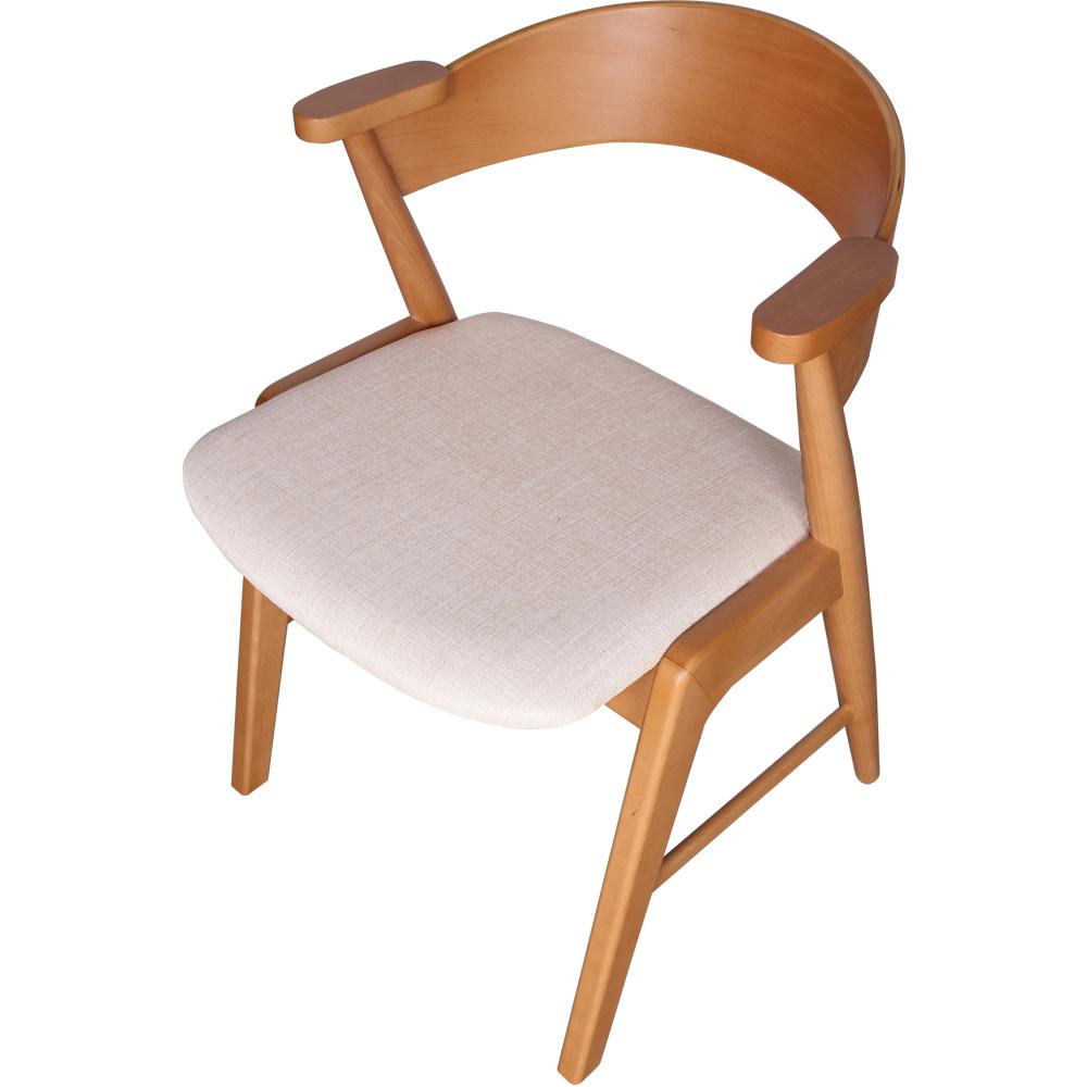 ROSA羅莎 比普日式二代座墊扶手單椅/餐椅-米白色