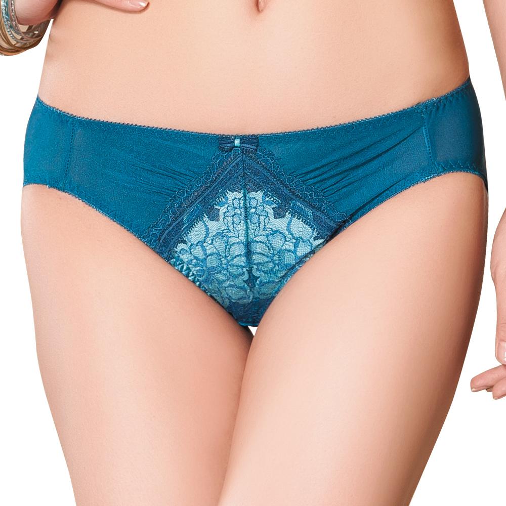 【思薇爾】13AW撩波系列M-XL低腰內褲(薄霧藍)