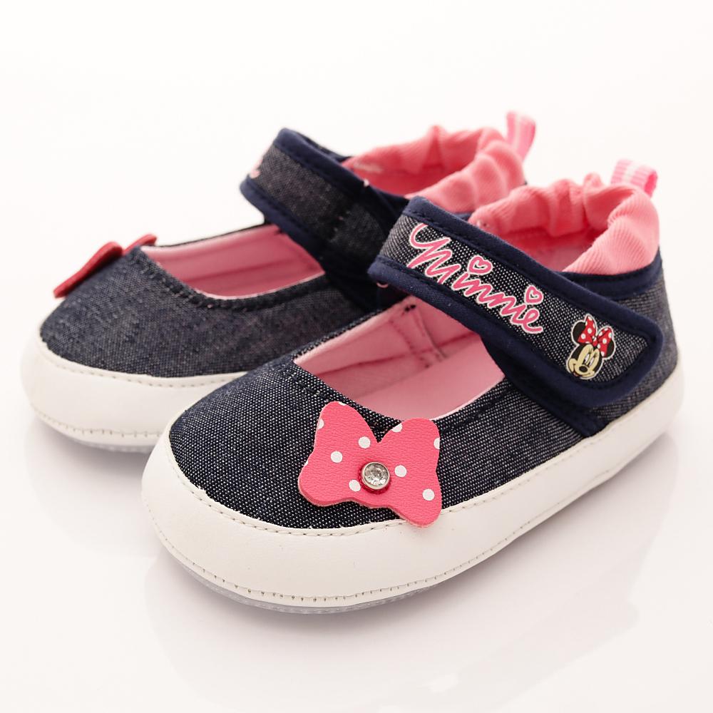 迪士尼童鞋米妮娃娃鞋款ON17210深藍小童段HN