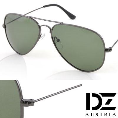 DZ 復古饗宴 抗UV 偏光太陽眼鏡墨鏡(墨綠)