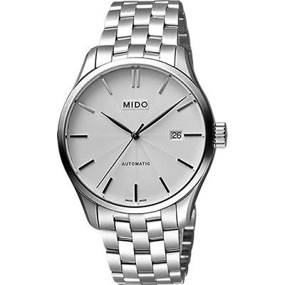 MIDO Belluna II Gent 經典機械腕錶-銀/40mm