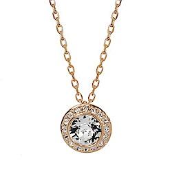 SWAROVSKI 施華洛世奇 圓形璀璨水晶鑲嵌玫瑰金色項鍊