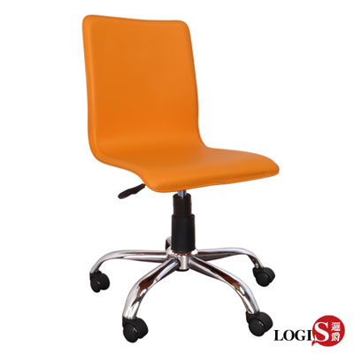 歐風品味皮革事務椅/電腦椅(五色 咖啡 黑 橘 白 紅 )