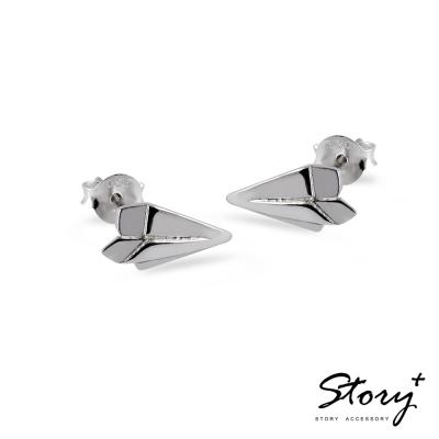 STORY故事銀飾-紙飛機 925純銀耳環