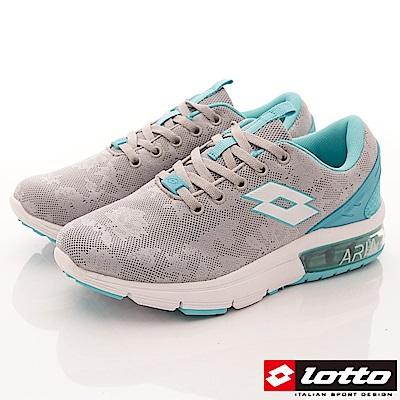 Lotto樂得-編織緩震氣墊鞋 SI626灰藍(女段)
